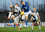 Ayr United v St Johnstone…..08.02.20   Somerset Park   Scottish Cup 5th Round<br />Stevie May and Grant Gillespie<br />Picture by Graeme Hart.<br />Copyright Perthshire Picture Agency<br />Tel: 01738 623350  Mobile: 07990 594431