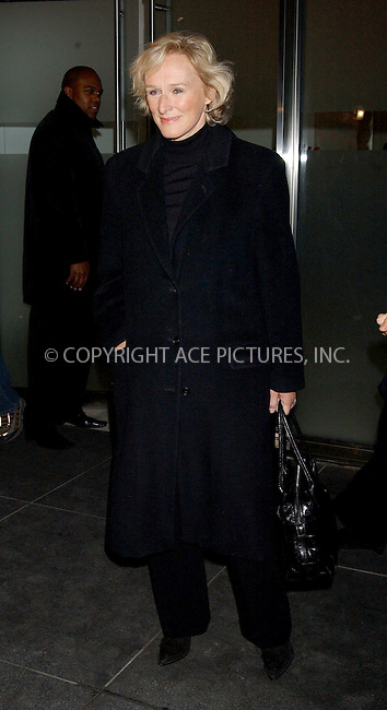 WWW.ACEPIXS.COM . . . . . ....NEW YORK, FEBRUARY 21, 2006....Glenn Close at the screening and reception for the New York Opening of Academy Award Nominated Film 'STREET FIGHT'....Please byline: KRISTIN CALLAHAN - ACEPIXS.COM.. . . . . . ..Ace Pictures, Inc:  ..Philip Vaughan (212) 243-8787 or (646) 679 0430..e-mail: info@acepixs.com..web: http://www.acepixs.com