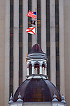 The cupola of the old historic Florida capitol building in Tallahassee, Florida.