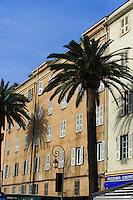 Wohnhaus am Hafen in Ajaccio, Korsika, Frankreich