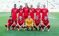 CARSON, CA - FEBRUARY 07: Canada poses for their starting XI photo during a game between Canada and Costa Rica at Dignity Health Sports Park on February 07, 2020 in Carson, California.