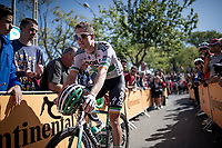 Sam Bennett (IRL/Bora-Hansgrohe) at the race start<br /> <br /> Stage 18: Colmenar Viejo to Becerril de la Sierra (178km)<br /> La Vuelta 2019<br /> <br /> ©kramon