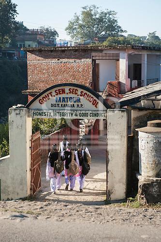 Himachal Pradesh, India. Government Senior Secondary School, Matour, between Dharamsala and Shimla.