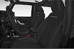 Front seat view of a 2014 Jeep Wrangler Rubicon 5 Door SUV front seat car photos