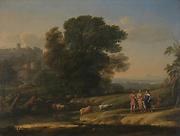 Full title: Landscape with Cephalus and Procris reunited by Diana<br /> Artist: Claude<br /> Date made: 1645<br /> The National Gallery, London