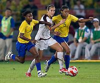 while playing for the gold medal at Workers' Stadium.  The USWNT defeated Brazil, 1-0, during the 2008 Beijing Olympic final in Beijing, China.