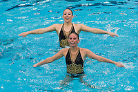 2 February 2008: Poppy Carlig and Melissa Knight during Stanford's 90-69 win over Alabama-Birmingham at the Avery Aquatic Center in Stanford, CA.