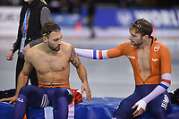 SPEEDSKATING: SALT LAKE CITY: Utah Olympic Oval, 10-03-2019, ISU World Cup Finals, 1500m Men, Kjeld Nuis (NED), world record: 1:40.176, Thomas Krol (NED), ©Martin de Jong
