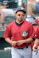 Altoona Curve outfielder Christian Marrero (36) during game against the Trenton Thunder at Samuel L. Plumeri Sr. Field at Mercer County Waterfront Park on August 22, 2012 in Trenton, NJ.  Altoona defeated Trenton 14-2.  Tomasso DeRosa/Four Seam Images