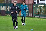 18.11.2020, Trainingsgelaende am wohninvest WESERSTADION,, Bremen, GER, 1.FBL, Werder Bremen Training, im Bild<br /> <br /> <br /> <br /> Yuya Osako (SV Werder Bremen #8) am Ball bei einer individuellen Einheit mit Günther / Guenther Stoxreiter (Athletik-Trainer Werder Bremen) (vorne)<br /> <br /> Foto © nordphoto / Gumz