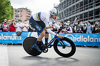 eventual stage winner & TT World Champion Filippo Ganna (ITA/INEOS Grenadiers)<br /> <br /> 104th Giro d'Italia 2021 (2.UWT)<br /> Stage 1 (ITT) from Turin to Turin (8.6 km)<br /> <br /> ©kramon