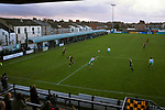 Marine 1 Hyde United 0, 12/12/2020. Marine Travel Arena, FA Trophy First Round. The home team press for the opening goal during the first-half as Marine play Hyde United (in white) in an FA Trophy first round tie at the Marine Travel Arena, formerly known as Rossett Park, in Crosby. Due to coronavirus regulations which had suspended league games, the Merseysiders' only fixtures were in cup competitions, including their forthcoming tie against Tottenham Hotspur in the FA Cup third round. Marine won the game by 1-0, watched by a permitted capacity of 400, with the visitors having two men sent off in the second half. Photo by Colin McPherson.