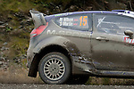 14th September 2012 - Devils Bridge - Mid Wales : WRC Wales Rally GB SS6 Myherin stage : Matthew Wilson and co driver Scott Martin Of Great Britain in their Ford Fiesta RS WRC