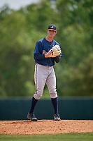 Atlanta Braves Joey Wentz (49) during a minor league Spring Training game against the Detroit Tigers on March 25, 2017 at ESPN Wide World of Sports Complex in Orlando, Florida.  (Mike Janes/Four Seam Images)