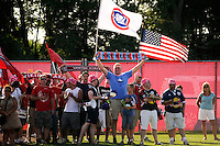 Fans. The Western New York Flash defeated Sky Blue FC 2-0 during a Women's Professional Soccer (WPS) match at Yurcak Field in Piscataway, NJ, on July 17, 2011.
