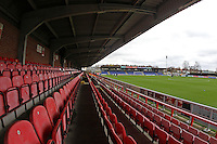 General view of Kingsmeadow ahead of kick-off during AFC Wimbledon vs Stevenage, Sky Bet League 2 Football at the Cherry Red Records Stadium, Kingston, England on 12/12/2015