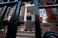 Ivo Juhani, a modern-day butler living and working at the home of one of his clients in the West Village, New York City.