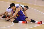 League ACB-ENDESA 2020/2021.Game 15.<br /> FC Barcelona vs Club Joventut Badalona: 88-74.<br /> Kyle Kuric vs Ferran Bassas.