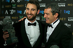 Dani Rovira and Antonio Banderas attend the 2015 Goya Award Winners Photocall at Auditorium Hotel, Madrid,  Spain. February 08, 2015.(ALTERPHOTOS/)Carlos Dafonte)