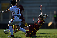 Federica Polverino of Roma CF and Giada Greggi of AS Roma compete for the ball during the Women Italy cup round of 8 second leg match between AS Roma and Roma Calcio Femminile at stadio delle tre fontane, Roma, February 20, 2019 <br /> Foto Andrea Staccioli / Insidefoto