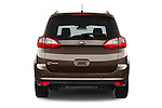 Straight rear view of 2015 Ford Grand C-Max Titanium 5 Door Mini Mpv Rear View  stock images