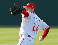 10 April 2007: Jason Place of the Greenville Drive, Class A affiliate of the Boston Red Sox, during a game against the Columbus Catfish.  Photo by:  Tom Priddy/Four Seam Images