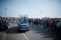 Shimano neutral car heading out of Maastricht<br /> <br /> 50th Amstel Gold Race 2015