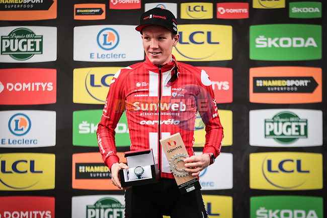 Soren Kragh Andersen (DEN) Team Sunweb wins Stage 4 of the 78th edition of Paris-Nice 2020, and individual time trial running 15.1km around Saint-Amand-Montrond, France. 11th March 2020.<br /> Picture: ASO/Fabien Boukla   Cyclefile<br /> All photos usage must carry mandatory copyright credit (© Cyclefile   ASO/Fabien Boukla)