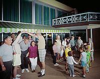 Jolly Roger Motel, Wildwood NJ. Families Line Dancing.
