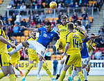 St Johnstone v Falkirk…24.07.18…  McDiarmid Park    Betfred Cup<br />Tony Watt battles with Pat Brough<br />Picture by Graeme Hart. <br />Copyright Perthshire Picture Agency<br />Tel: 01738 623350  Mobile: 07990 594431