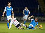 St Johnstone v Ross County…24.10.17…  McDiarmid Park…  SPFL<br />Davis Keillor-Dunn and Paulm Paton<br />Picture by Graeme Hart. <br />Copyright Perthshire Picture Agency<br />Tel: 01738 623350  Mobile: 07990 594431