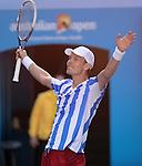 Tomas Berdych ((CZE) defeats David Ferrer (ESP) 6-1, 6-4, 2-6, 6-4