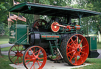 AJ2002, antique, tractor, collectible, Virginia, An antique steam powered tractor built in 1921 is on display in White Post.