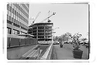Construction au centre-ville<br /> , octobre 1984<br /> <br /> PHOTO :  Agence Quebec Presse