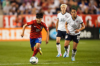 Korea Republic (KOR) forward Ji Soyun (10). The women's national team of the United States defeated the Korea Republic 5-0 during an international friendly at Red Bull Arena in Harrison, NJ, on June 20, 2013.