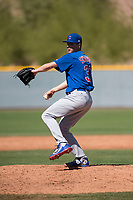 Chicago Cubs relief pitcher Matt Swarmer (37) during a Minor League Spring Training game against the Los Angeles Angels at Sloan Park on March 20, 2018 in Mesa, Arizona. (Zachary Lucy/Four Seam Images)