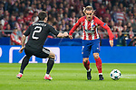 Atletico de Madrid Antoine Griezmann and Qarabag Qara Qarayev during UEFA Champions League match between FK Qarabag and Atletico de Madrid at Wanda Metropolitano in Madrid, Spain. October 31, 2017. (ALTERPHOTOS/Borja B.Hojas)