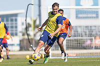 BRADENTON, FL - JANUARY 22: Aaron Long passes the ball during a training session at IMG Academy on January 22, 2021 in Bradenton, Florida.