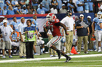 Atlanta, GA - September 3, 2016: The  University of Georgia defeated UNC 33-24 in the 2016 Chick-fil-A Kickoff Classic Game at the Georgia Dome.
