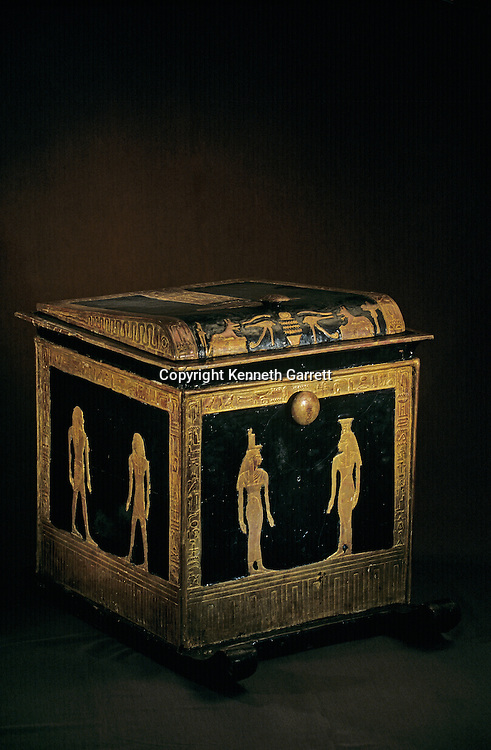 Canopic Chest of Tjuya; Valley of the Kings; KV 46,Tutankhamun and the Golden Age of the Pharaohs, Page 143