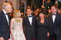 John Doman, Ekaterina Samsonov, Joaquin Phoenix, Lynne Ramsay et Alex Manette, sur le tapis rouge pour la projection du film YOU WERE NEVER REALLY HERE, en competition lors du soixante-dixième (70ème) Festival du Film à Cannes, Palais des Festivals et des Congres, Cannes, Sud de la France, samedi 27 mai 2017. X - RED CARPET OF THE FILM 'YOU WERE NEVER REALLY HERE' AT THE 70TH FESTIVAL OF CANNES 2017
