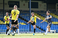 Jack Muldoon, Harrogate Town,  fires the opening goal during Southend United vs Harrogate Town, Sky Bet EFL League 2 Football at Roots Hall on 12th September 2020