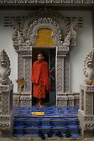 Monk quarters at a Monastery in Battambang, Cambodia