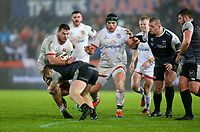Saturday 15th February 2020 | Ospreys vs Ulster Rugby<br /> <br /> Sean Reidy is tackled by Kieran Williams during the PRO14 Round 11 clash between the Ospreys and Ulster Rugby at the Liberty Stadium, Swansea, Wales. Photo by John Dickson/DICKSONDIGITAL