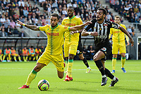 19th September  2021; Angers, Pays de la Loire, France; French League 1 football Angers versus Nantes;   FULGINI Angelo of Angers  challenges FABIO of Nantes
