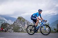 Imanol Erviti (ESP/Movistar) up the Alto de La Cubilla<br /> <br /> Stage 16: Pravia to Alto de La Cubilla. Lena (144km)<br /> La Vuelta 2019<br /> <br /> ©kramon