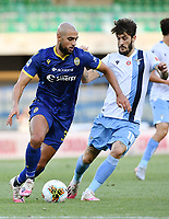 Sofyan Amrabat of Hellas Verona and Luis Alberto of SS Lazio during the Serie A football match between Hellas Verona and SS Lazio at stadio Marcantonio Bentegodi in Verona (Italy), July 26th, 2020. Play resumes behind closed doors following the outbreak of the coronavirus disease. <br /> Photo Daniele Buffa / Image Sport / Insidefoto