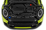 Car Stock 2021 MINI MINI Cooper-S-JCW 2 Door Convertible Engine  high angle detail view