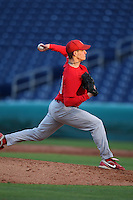 February 27, 2010:  Pitcher Theron Minium of the Ohio State Buckeyes during the Big East/Big 10 Challenge at Bright House Field in Clearwater, FL.  Photo By Mike Janes/Four Seam Images