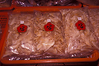 Dried shark fins are highly prized among certain Asian cultures. Demand in recent years has decimated many species. 100 to 200 million sharks are estimated to be killed each year for fins alone; the rest of the animal is often thrown overboard as waste.